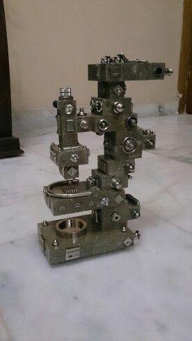 Microscope by stones