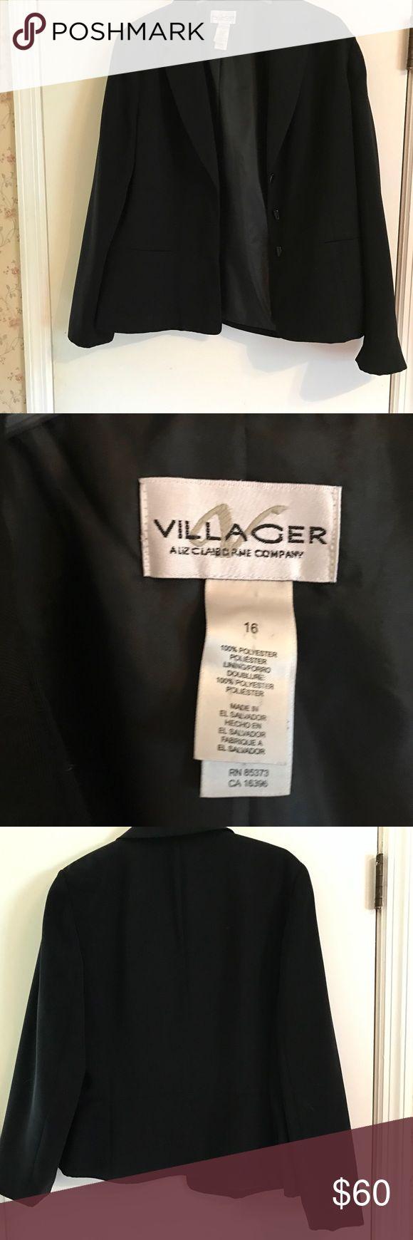 Black dressy jacket Black peplum jacket. villager Jackets & Coats Blazers