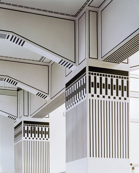 Architectural detail from the Post Office Savings Bank Building in Vienna, designed by Otto Wagner.