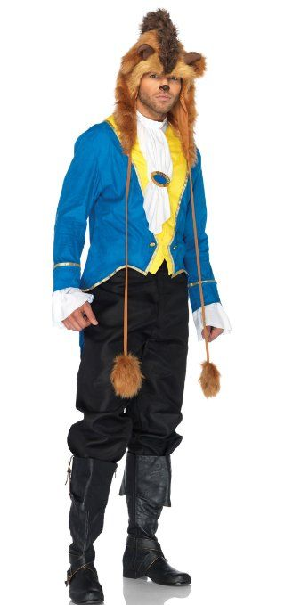 Amazon.com: 3 Piece Beast Costume Beauty And The Beast Costume 85148: Clothing