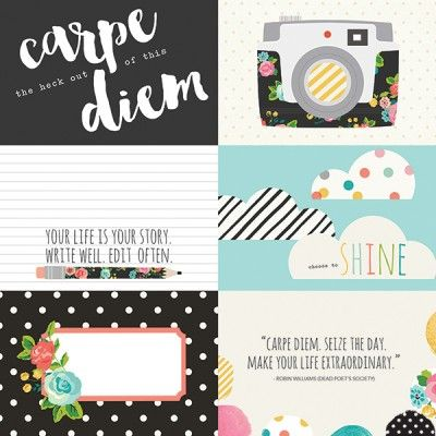 Karty do journalingu Simple Stories - Carpe Diem - poziome 10 x 15 cm