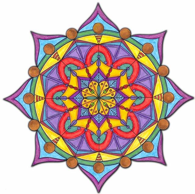 Mandala 8 - Colored - RuthArt by RuthArt, via Flickr
