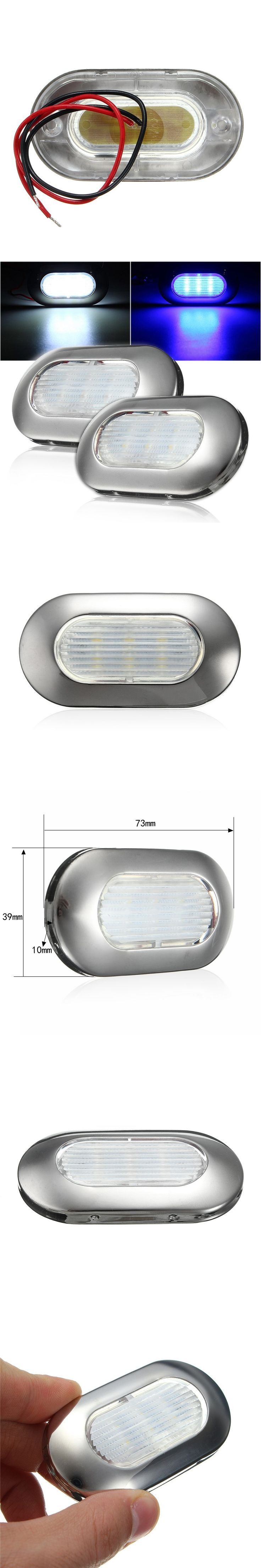 2835 Marine Ship Lights Yacht LED Light 12V White/Blue Waterproof Stainless Steel Led Boat Navigation Lights