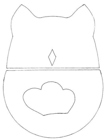 Moldes (cuerpo, pico y alas) para trazar búho en cualquier tipo de presentación y materiales.