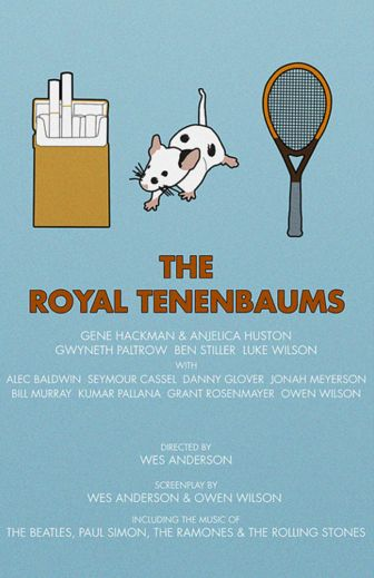 The Royal Tenenbaums (2001) ~ Minimal Movie Poster by Kate MacGuffin ~ Wes Anderson Series #amusementphile
