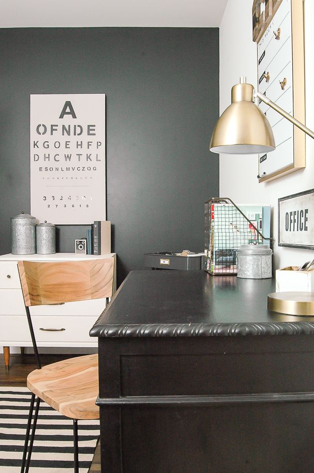 A Modern Industrial Farmhouse Office Decorated Completely On The Cheap Littlehouseoffour