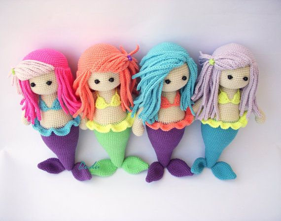 PDF Mermaid Kaelyn Crochet mermaid Crochet by DuduToyFactory