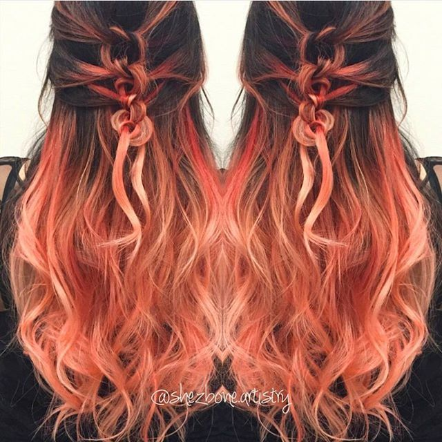 Very nice to use a combination of different hair colors. I love the harmonious colors of ombre hair color. For example: Pink and peach, pink and yellow, yellow and brown. I choose ombre hair...