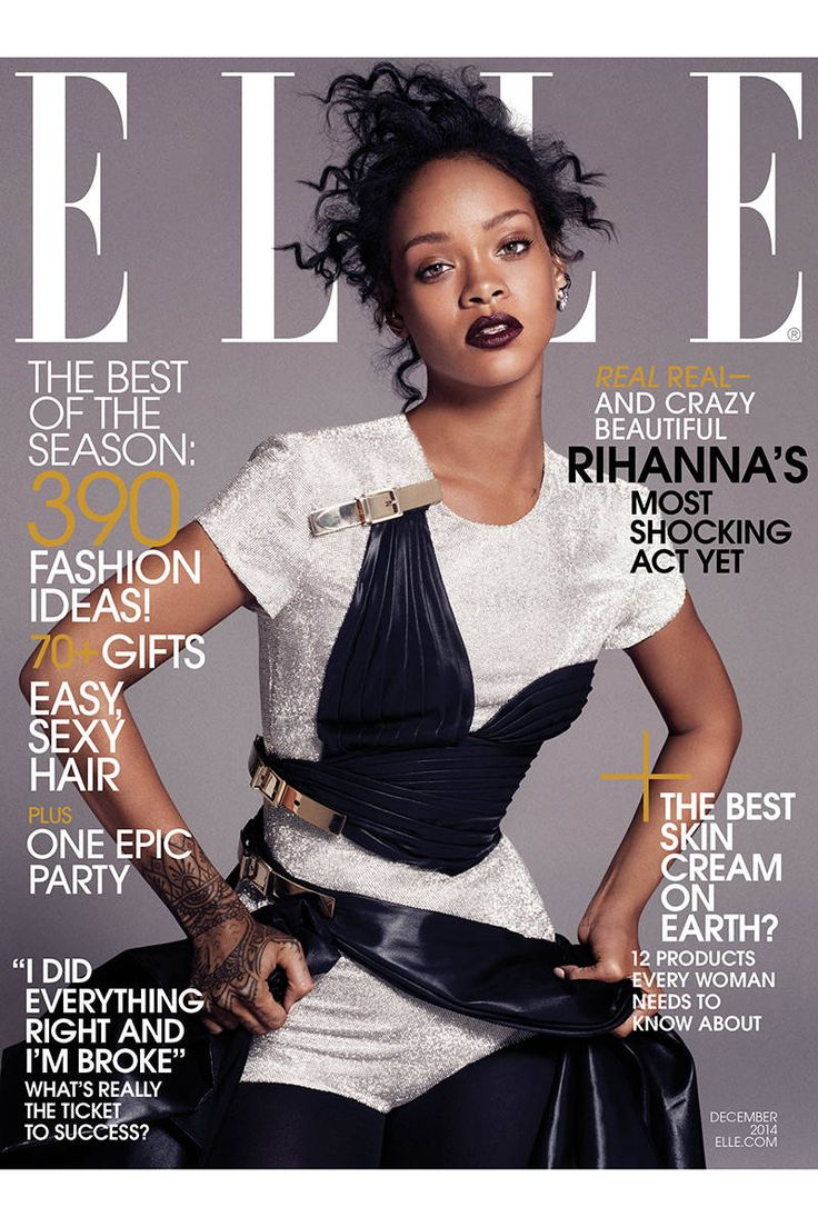 Rihanna's ELLE 2014 Cover Images -  December 2014 Cover ELLE Magazine - Elle