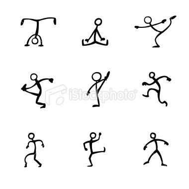 At the core, stick figure drawings are all the same, much like humans. One basic figure is interchangeable with another, much like human lives.
