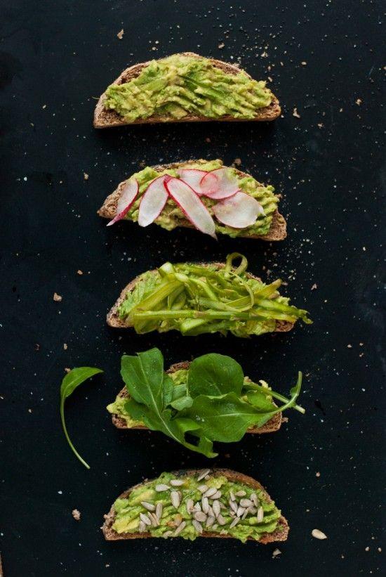 avocado toast pour l'apéro
