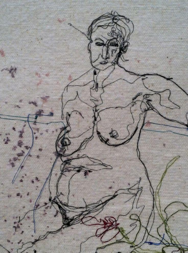 Shizuko Kimura. Looks like drawing with a sewing machine!