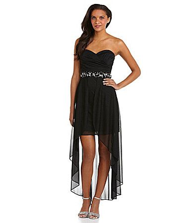 $119.00 Hailey by Adrianna Papell Strapless HiLow Dress #Dillards