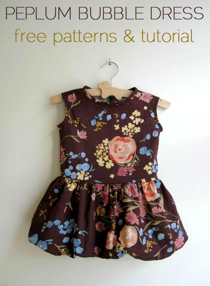 How to Sew a Peplum Bubble Dress