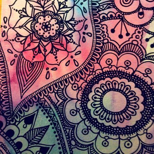 Tattoo paisley doodles