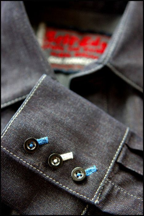 Cool buttons-great attention to detail.  Pre-order AFFORDABLE premium Hucklebury shirts today on Kickstarter. Made in USA, Superior Quality ...