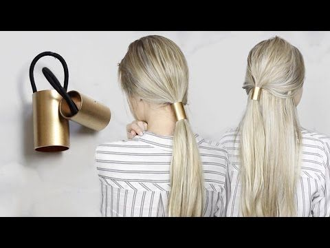 DIY GOLD PONYTAIL HAIR CUFF | SIMPLE HAIR ACCESSORY - YouTube