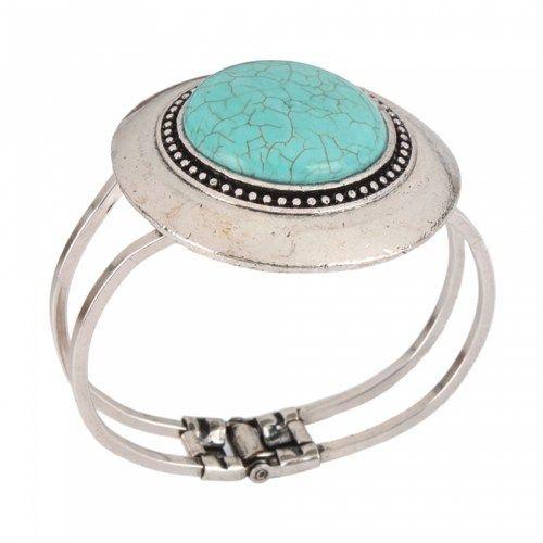 Charming Round Turquoise Alloy Bracelet | favwish - Jewelry on ArtFire