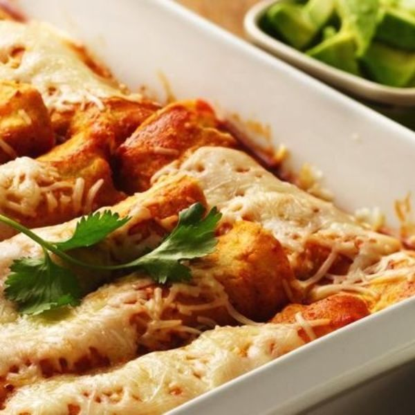 These saucy enchiladas are loaded with black beans, corn and cheese!