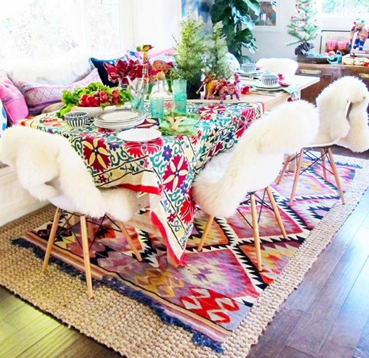 Aztec Kilim Rug + Sheepskin