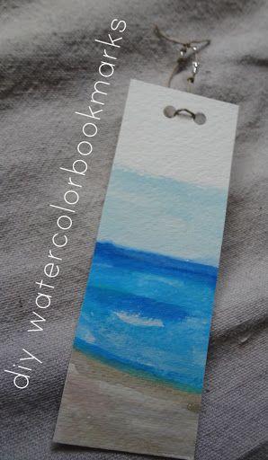 diy watercolor bookmarks make great handmade holiday gifts.