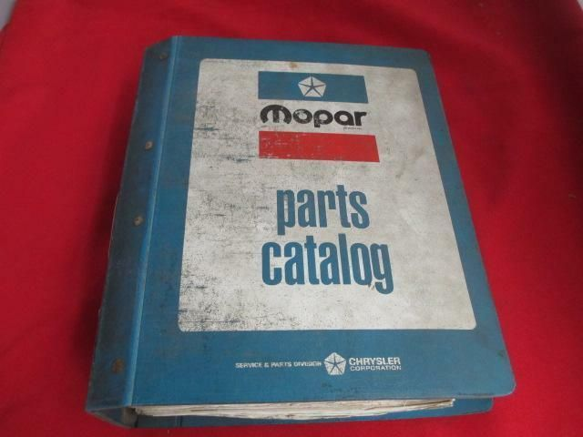 Ebay Sponsored 1975 75 Passenger Car Master Parts Book Dodge Chrysler Plymouth Mopar Good Used Mopar Dodge Chrysler Chrysler