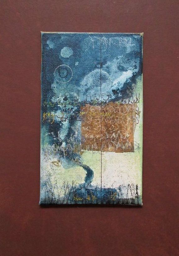 Original Art Triptych Paintings Three Original Mixed Media