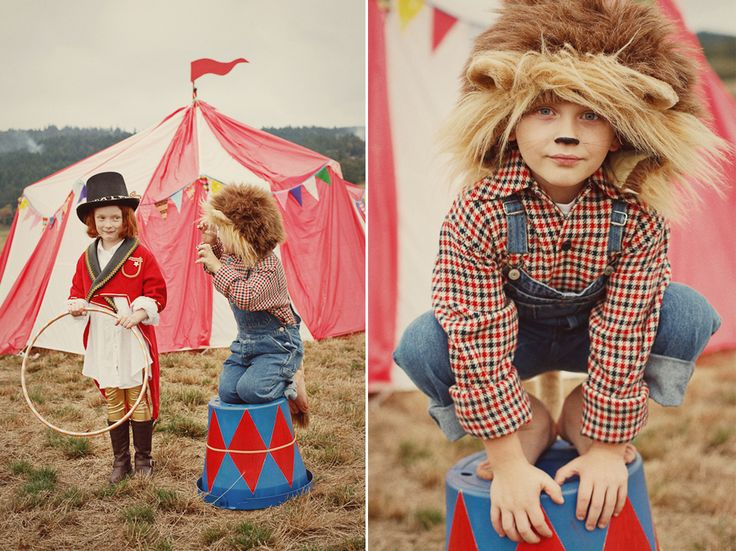 Circus themed photo shoot. This is so cute! haha