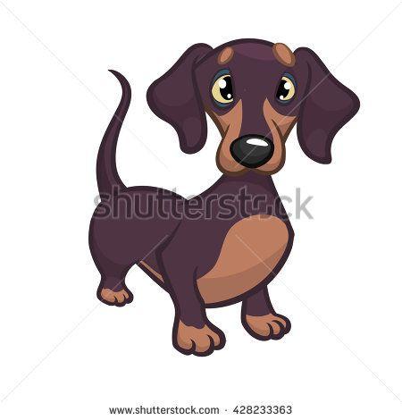 <b>Cartoon</b> Vector Illustration of <b>Cute</b> Purebred Dachshund <b>Dog</b> ...