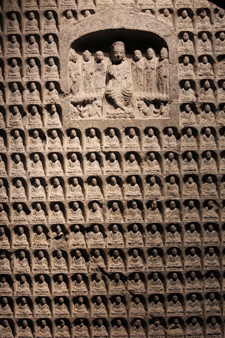 Thousand Buddha Stele (detail), Northern Zhou Dynasty, 557-581