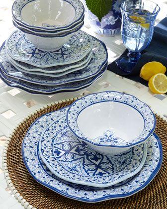 Talavera Azul Melamine Dinnerware