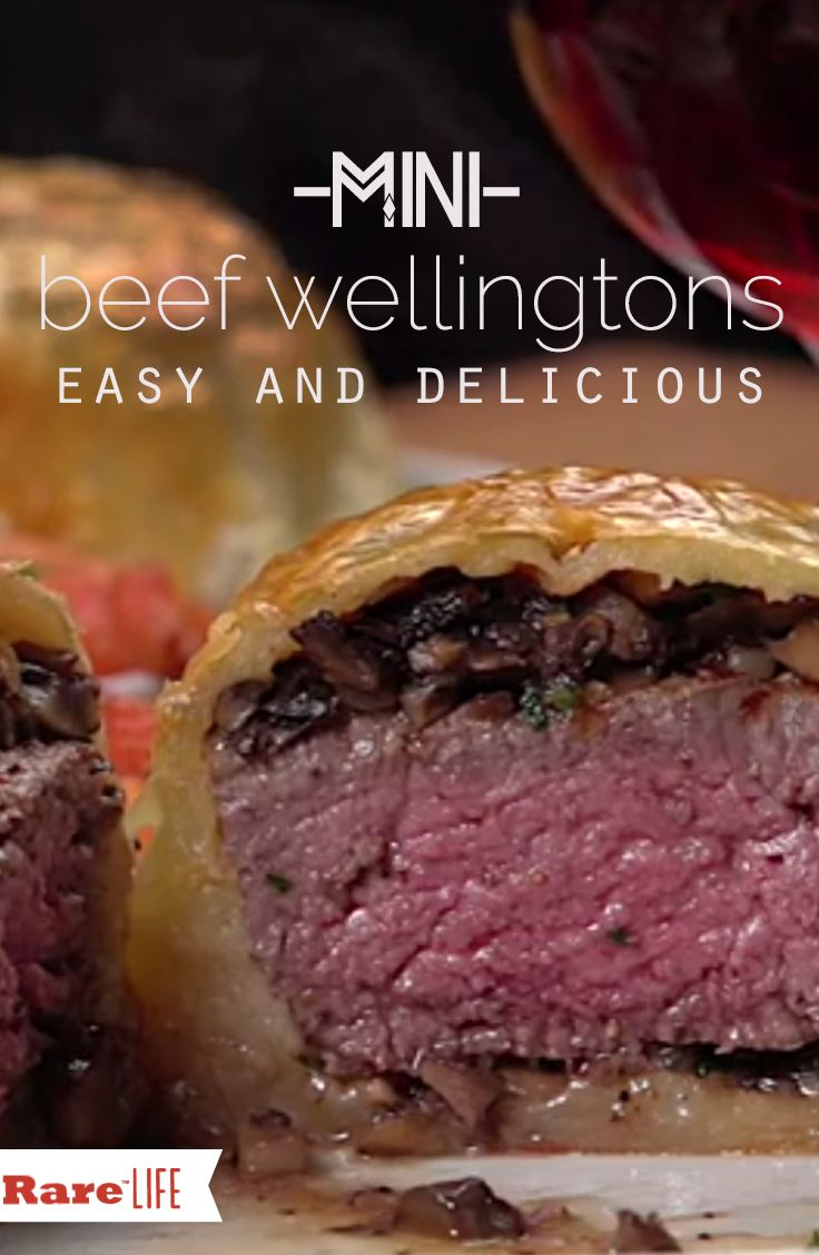These mini beef wellingtons are easy and delicious. ad