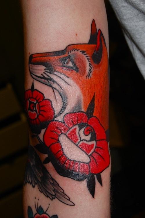 Fox Tattoo #rose #tattoo #fox
