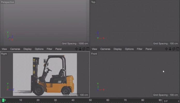 Model & Animate a Forklift - MAXON Cinema 4D (Tutorial