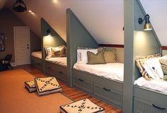 un dortoir sous les combles, pour nos petits-enfants un jour :) Plus