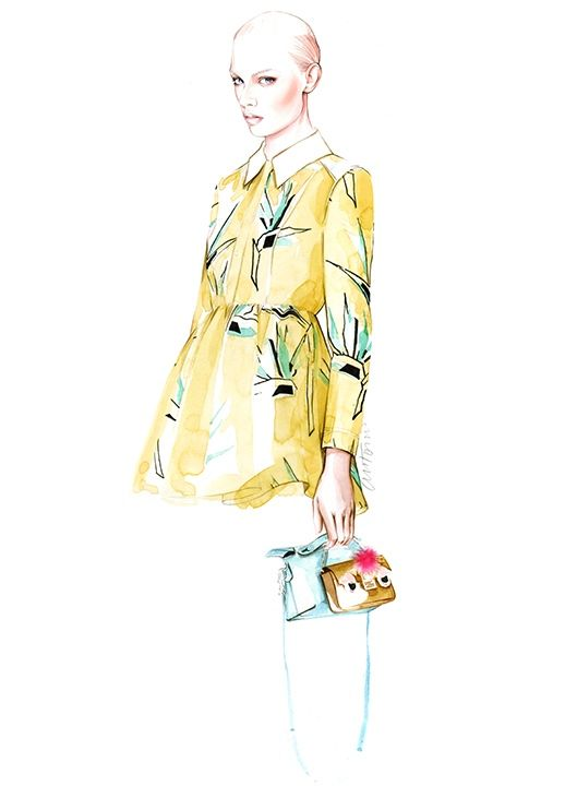 FENDI resort 2016  fashion illustration by António Soares