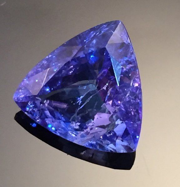 Outstanding Trillion Tanzanite Gemstone (4.35) 12x12 mm Tri-Cut Rated: 5 / 5…