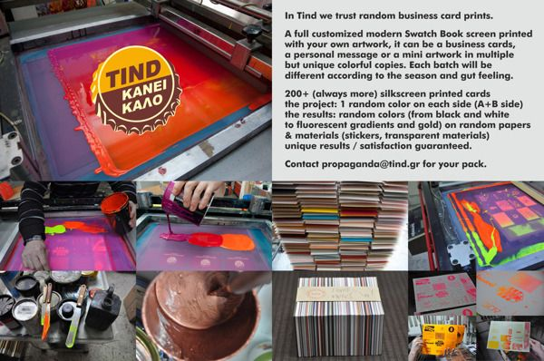 in tind we trust / random business card print / Ver 2.0 on Inspiration Is Served