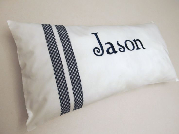 Baby Pillow Personalized Sham Personalized Baby Pillow White Pink Green Blue Yellow Baby Bedding Nursery Decor Baby Shower Gift by VirgoCottonLinen on Etsy #BabyPillow #PersonalizedPillow #DecorativePillow #NavyDecor #NavyNursery #NurseryDecor
