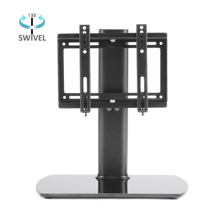 RFIVER Universal TV stand/base Tabletop Stand with Swivel Mount Bracket Suitable for 26 inch to 37 inch Flat Screen TVs,VESA 200x200 mm