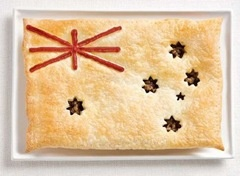 Aussie meat pie and sauce - Happy Australia Day