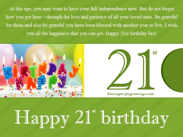 Best 25 21st birthday wishes ideas – 21 Birthday Greeting