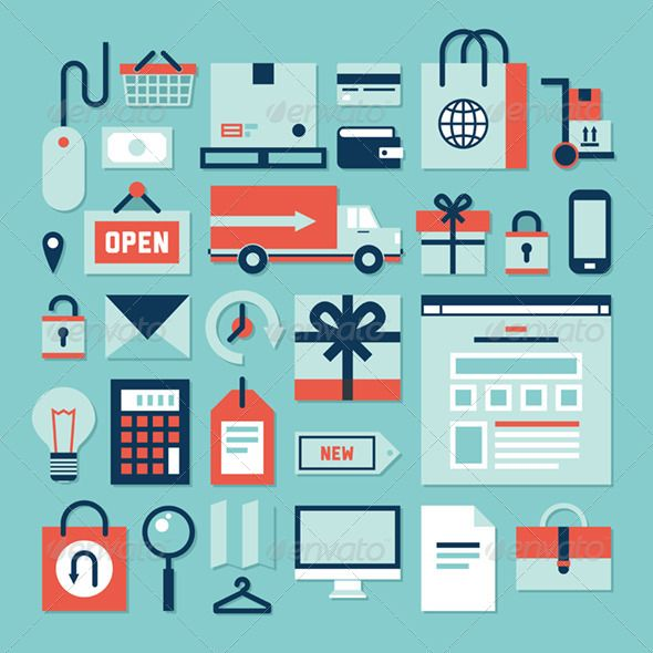 E-commerce and Shopping Icons - Business Icons