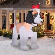 Gemmy Airblown Inflatables Christmas Inflatable Saint Bernard, 9.5' Image 2 of 3