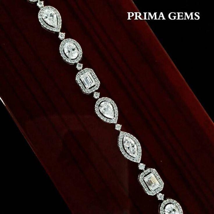 Light up a day with the Mix fancy shaped Diamond Bracelet from #PrimaGems…
