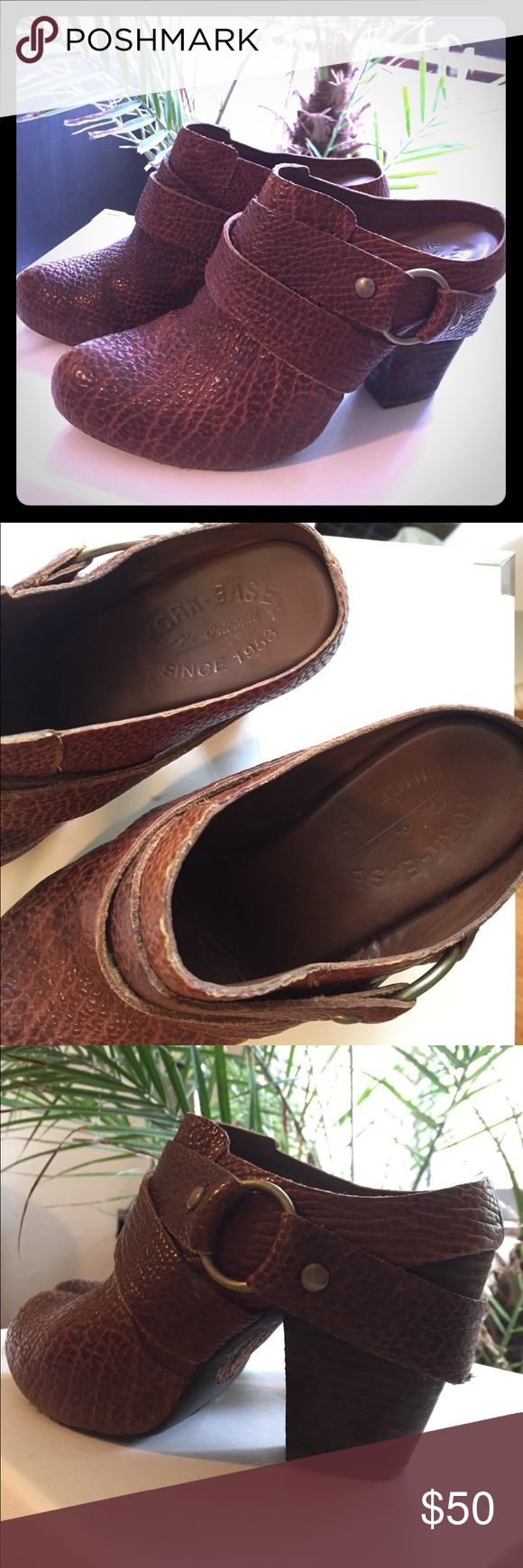 Kork-Ease brown leather harness mules clogs Kork-Ease brown leather harness mules clogs Kork-Ease Shoes Mules & Clogs
