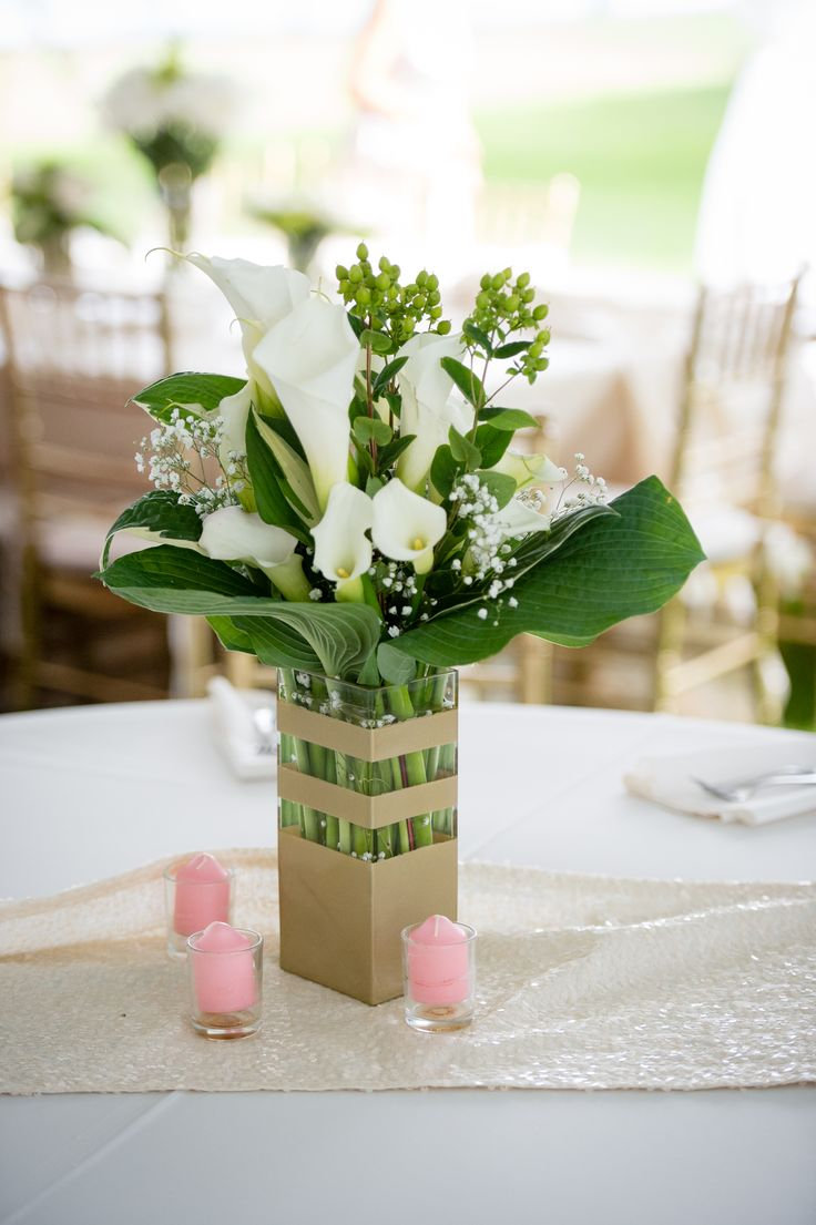 White Calla Lillies Centerpiece