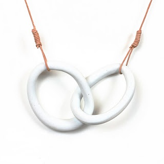 Ocean-inspired porcelain jewelry by Maria Moyer. http://www.loomstate.org/special-projects/maria-moyer