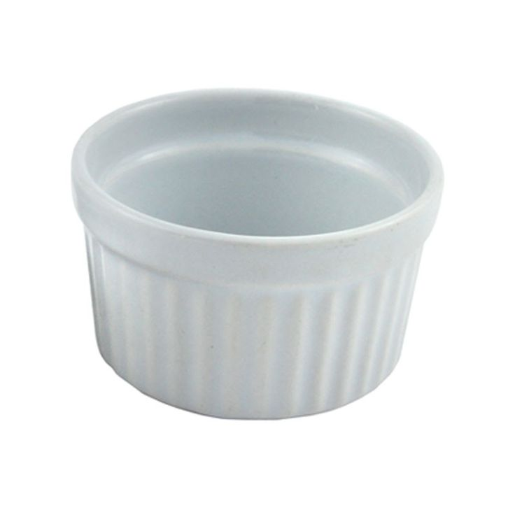 """3"""" Ramekin Dish - Available in a range of sizes. Ovenproof, freezer and microwave proof. Perfect for souffles, individual dishes, creme brulee, puddings or just for serving nibbles. A popular item from our general tableware range. Large quantities are available."""