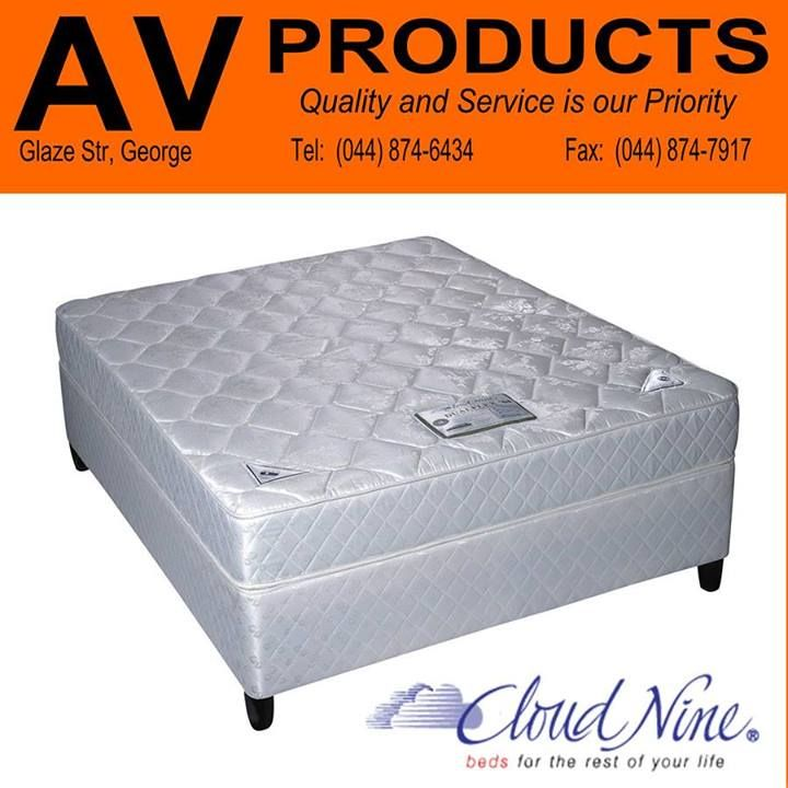 AV Produkte / AV Products stocks a wide range of Cloud Nine #mattresses and base sets - something to suit each and every individual. Excellent #quality at affordable prices! Contact our sales team on 044 874 6434 for more information.
